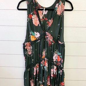 Free People Floral Flowy Tunic